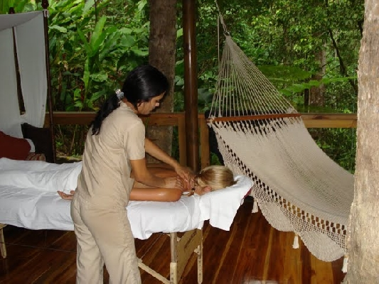 A relaxing massage is a great way to unwind after a day full of Desafio adventures at Finca Luna Nueva near La Fortuna, Costa Rica.