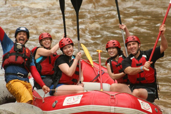 Rafting on the Balsa River in Arenal, Costa Rica.