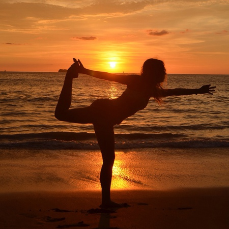Manuel Antonio has some of the best sunsets. Perfect for swimming or yoga.
