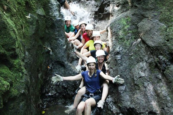 Great fun canyoning in Arenal from Guanacaste in the Lost Canyon.