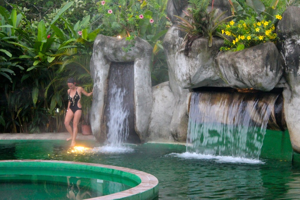 What better way to relax after your hike than in a natural hot spring?
