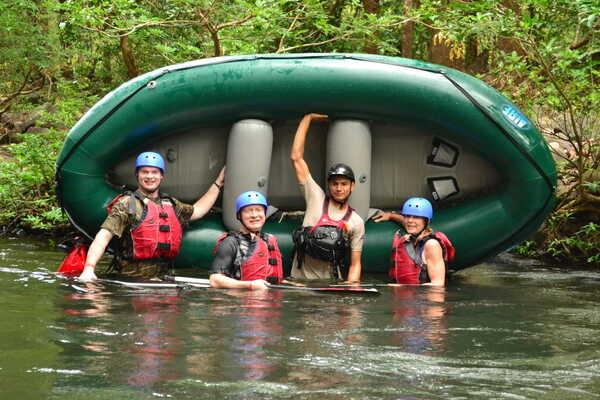 Tenorio rafting with Desafiofun for the whole family.