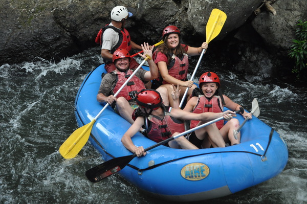 Rafting on Rio Tenorio on the way to La Fortuna, Costa Rica.