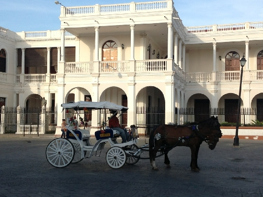 Horse drawn carriage in a Nicaraguan tour!