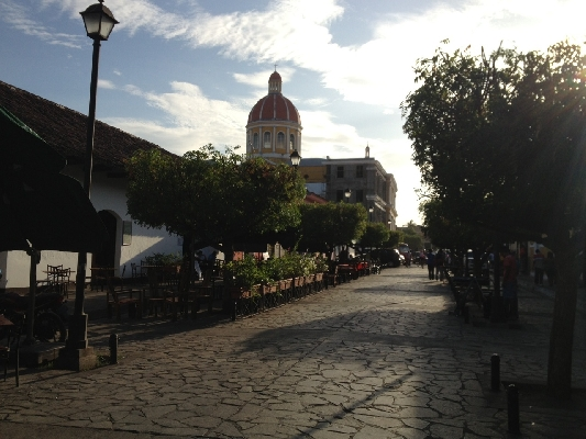 Nicaraguan beautiful colonial streets seen on a day tour from Costa Rica!