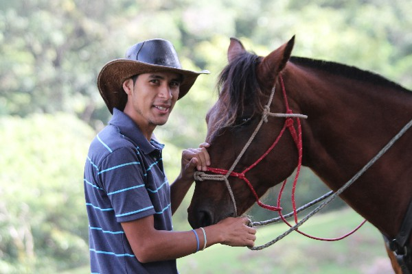 Authentic Costa Rican cowboys when you go horseback riding in Costa Rica with us!
