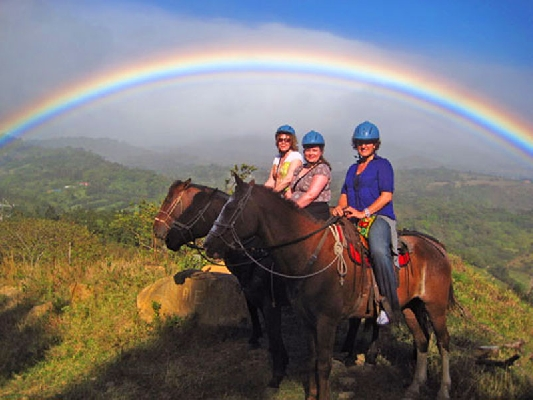 Get amazing views of Monteverde on horseback.