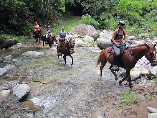 Great places to ride a horse in Costa Rica.