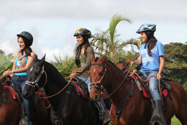 Cannot help but smile when riding a horse in Costa Rica!