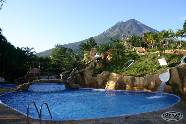 Hotel Los Lagos at the base of the Arenal Volcano is one of the best hot springs hotels in La Fortuna. Desafio can help you plan your perfect family vacation to Costa Rica!