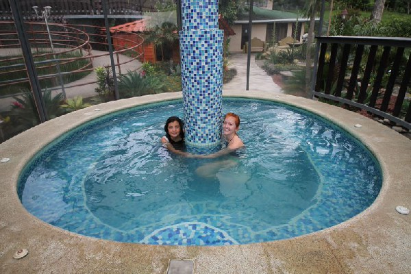 Let the warm waters of the jacuzzi at Poco a Poco relax your tired muscles from hiking the Monteverde Cloud Forest Reserve.