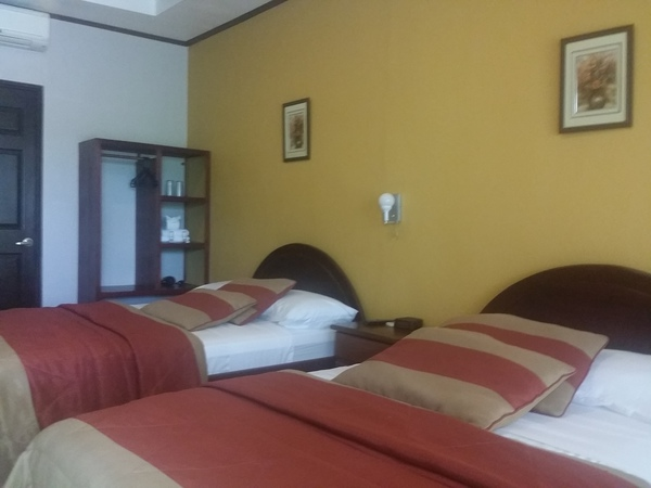 The guest rooms at hotel Robledel in San Jose Costa Rica.