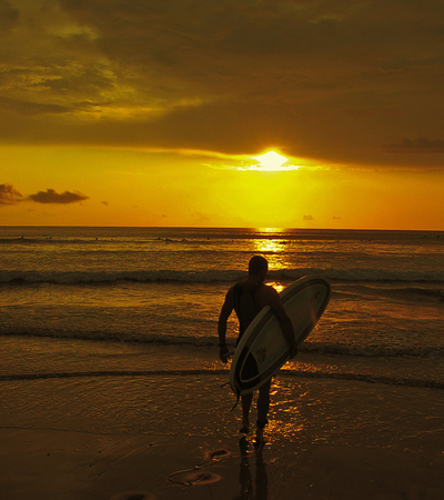 Heading out into the sunset at San Bada Hotel Manuel Antonio.