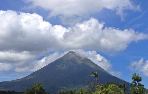 The Arenal Volcano jsut outside of La Fortuna Costa Rica.