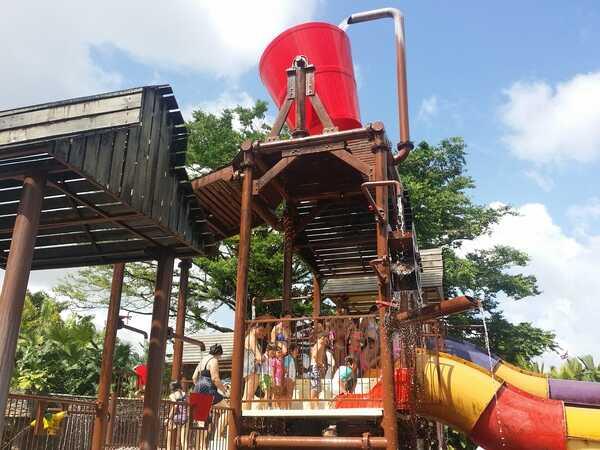 The kids area at Kalambu Hotsprings Waterpark.