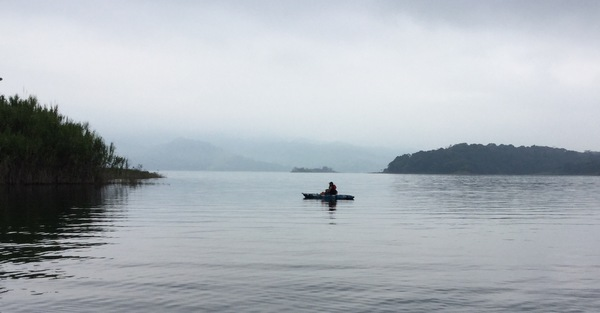 Kayak Fishing on Lake Arenal.