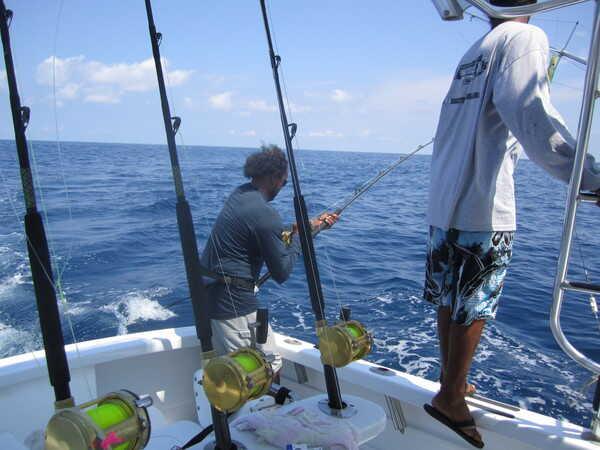 Deep sea fishing in Carillo near Samara, Costa Rica.
