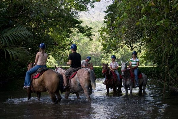 A beautiful way to travel from La Fortuna to Monteverde by horseback.