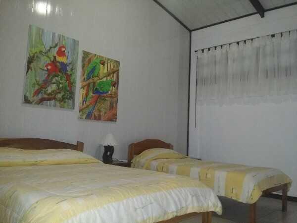 Comfortable family rooms at La Quinta in Sarapiqui.