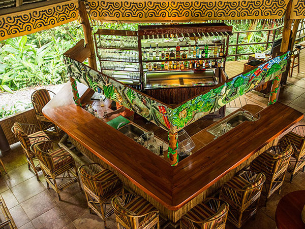 Jungle Bar at Lapa Rios in the Osa Peninsula Costa Rica. Desafio can help youyour vacation to Costa Rica.