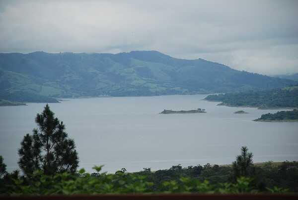 The green lake on top of Cerro Chato, the extinct volcano.