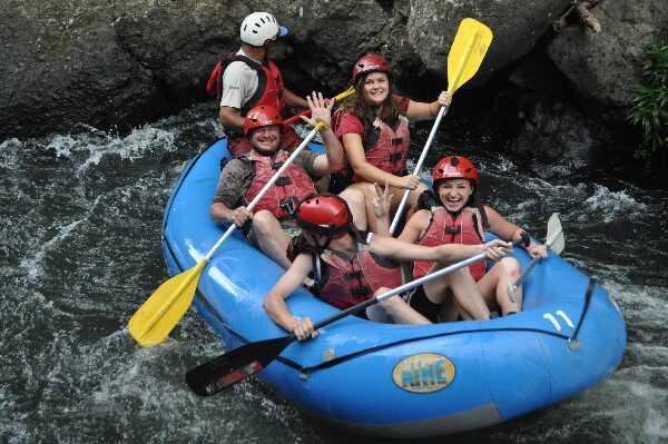 White Water Rafting on the way to Playa Samara, Costa Rica.