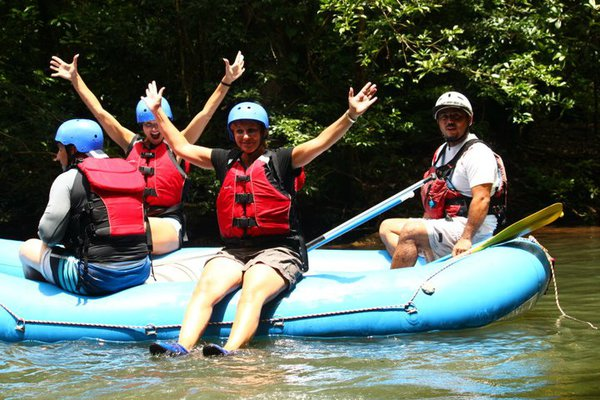 Rafting on the Tenorio River on the way to Samara, Costa Rica.