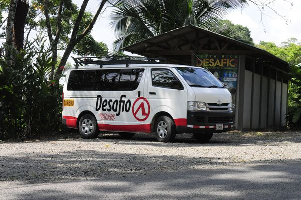 One of our Desafio vans equipped with optional air conditioning and free Wifi.