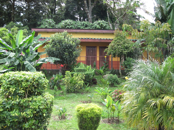 Tropical and lush gardens surround every room at Hotel Los Cipreses in Monteverde.