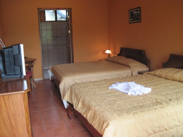Clean and comfortable rooms on a budget at Hotel Los Cipreses in Monteverde.