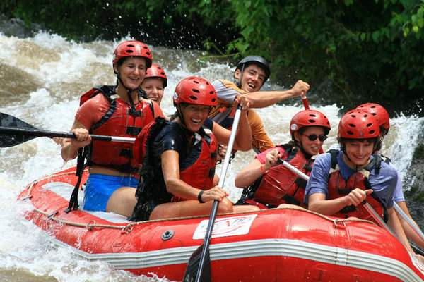 Rafting on the Balsa River on the way to La Fortuna, Costa Rica
