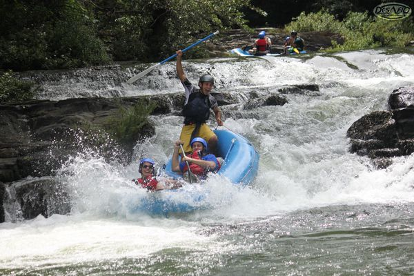 You'll experience over 20 thrilling rapids