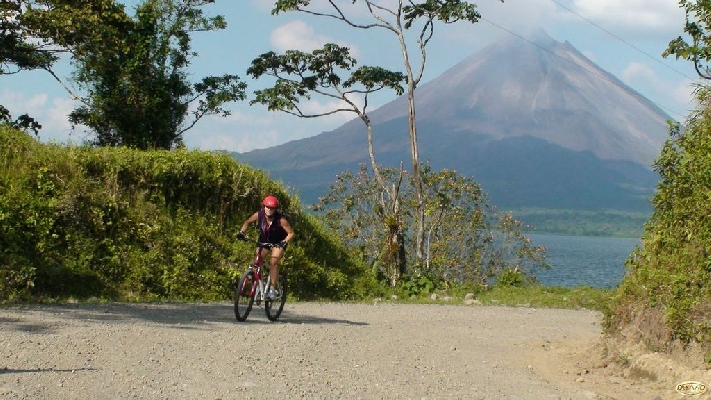 Pedal by the extraordinary scenery of the Arenal Volcano Trails