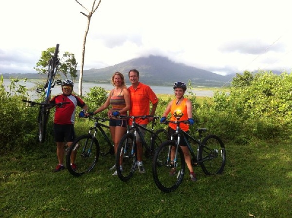 You will ride on trails that run through farmlands and close to the jungle!