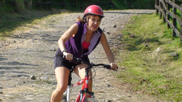 You will bike on a gravel road connecting Lake Arenal to the Arenal Volcano National Park!