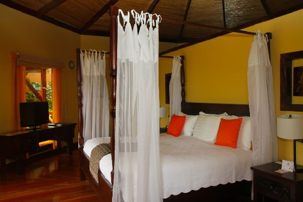Romantic bedrooms at Nayara in Arenal, Costa Rica. Desafio can help plan the perfect honeymoon