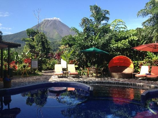 No better way to spend the day than in the shadow of the majestic Arenal volcano at Nayara in La Fortuna, Costa Rica. Desafio can help plan the perfect honeymoon!