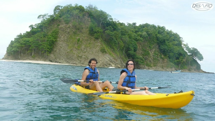 Enjoy kayaking to the beutiful white sand beach!