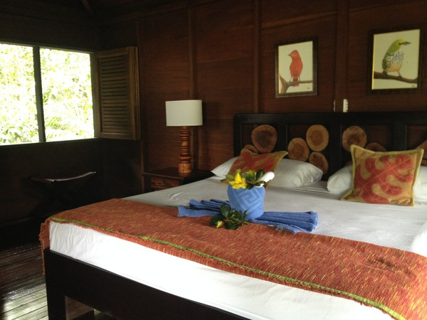 The beautiful and peaceful guest rooms at the Chachagua Rainforest Hotel