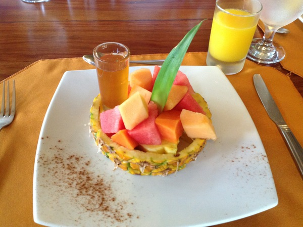A delicious breakfast at the Chachagua Rainforest Hotel in Arenal Costa Rica