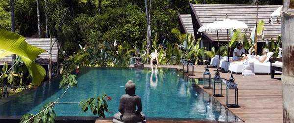 Beautiful gardens at the Oxygen Jungle Villas in Costa Rica.