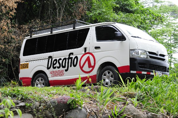 Desafio vehicles include modern Toyota Hiace