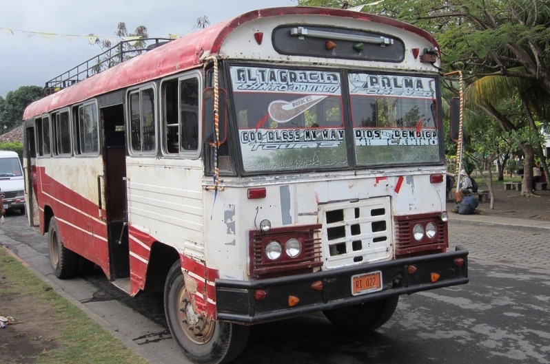 Not all Costa Rica public buses look like this, but this is classic.