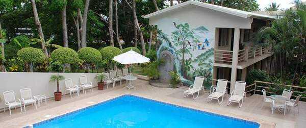 Pueblo Dorado Hotel is literally across the street from the beach!