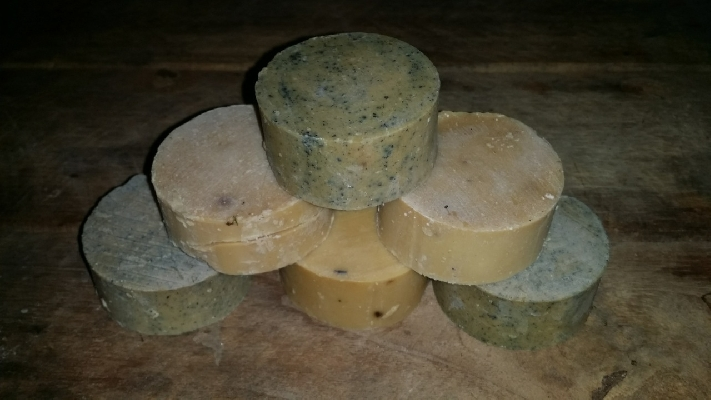 Handmade organic soap made right at the ranch. You too can help make this at Rancho Margot.