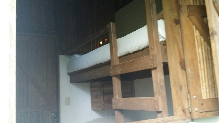 The bunkhouse rooms are rustic but nice at Rancho Margot near the Arenal Volcano.
