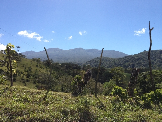 Beautiful view of Rincon de la Vieja volcano in Guanacaste.
