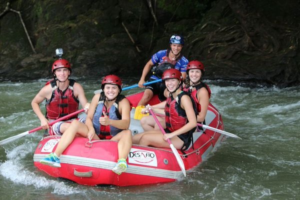 Rafting on the Balsa River in Costa Rica.