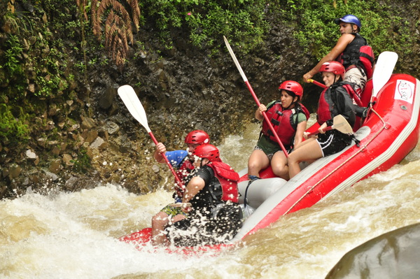 White Water Rafting on the Sarapiqui River.