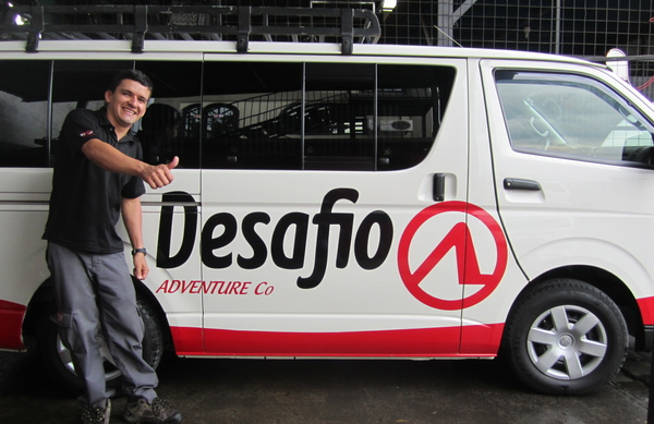 One of our friendly drivers at Desafio Adventure Company.